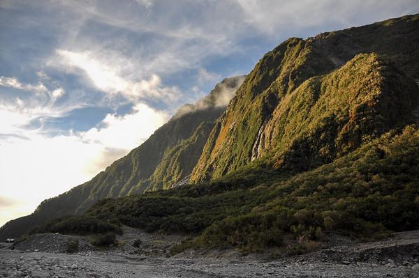 Sunset at Fox Glacier, South Island, New-Zealand