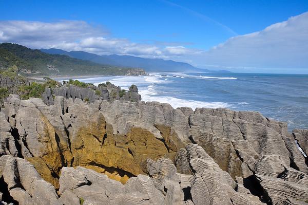 Pancake rocks formation, South Island, New-Zealand