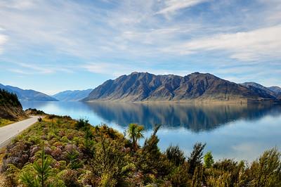 Purity of Lake Wanaka, South Island, New-Zealand