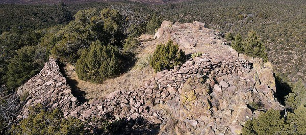 Hilltop site near Camp Wood