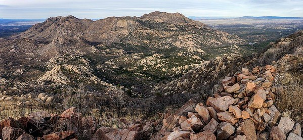 Ruin wall on top of Little Granite Mountain