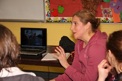NTC Development Camp-109 Olympian Carolyn Murray speaks to the group
