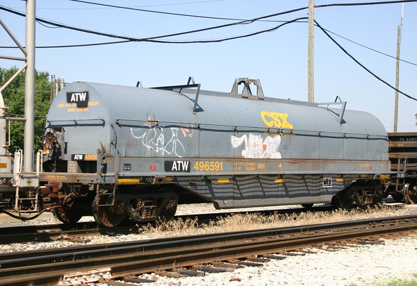 Atlantic and Western Railway 42' Thrall 1231 cu. ft. Coil Car No. 496591