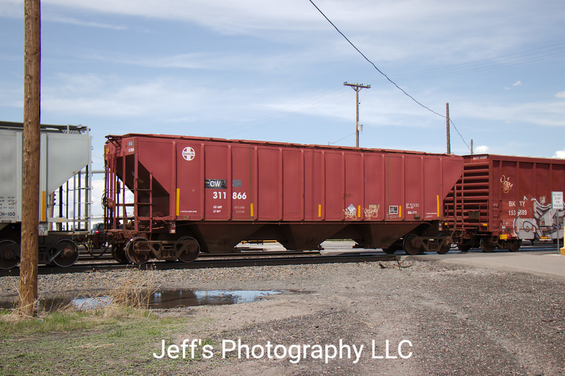 Colorado and Wyoming Railway 3-Bay 4427 cu. ft. Covered Hopper No. 311866