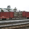 """Genesee and Wyoming Railroad 86'6"""" Pullman Standard 10000 cu. ft. Auto Parts Boxcar No. 206017 is westbound on CSX manifest freight train, Q359, on the Cumberland Terminal Subdivision in Cumberland, Maryland on 26 January 2008."""