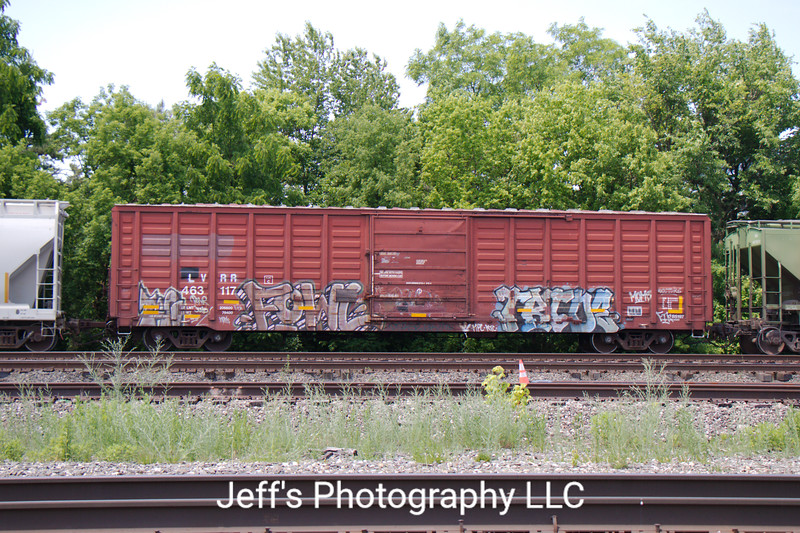 """Lycoming Valley Railroad 60'9"""" 6348 cu. ft. PS Waffle Side Single Door Boxcar No. 463117"""