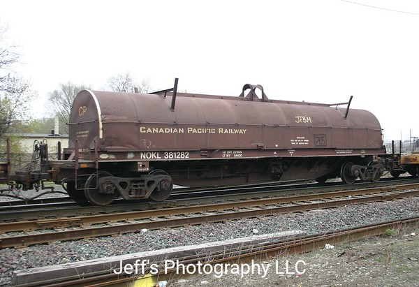 Northwestern Oklahoma Railroad 42' Alstom 1200 cu. ft. Coil Car No. 381282