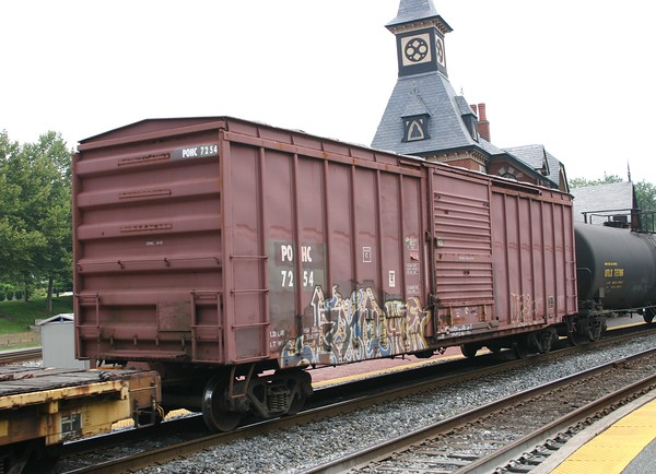 """Pittsburgh and Ohio Central Railroad 50'6"""" PS 5337 cu. ft. Single Door Boxcar No. 7254"""