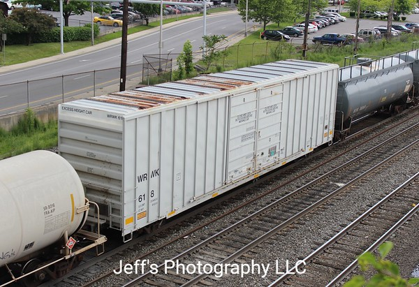 """Providence & Worcester 60'9"""" 7541 cu. ft. Double Door High Cube Boxcar No. 618"""