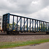St. Mary's West Railway 73' Greenbrier Open Panel Centerbeam Flat Car No. 735815