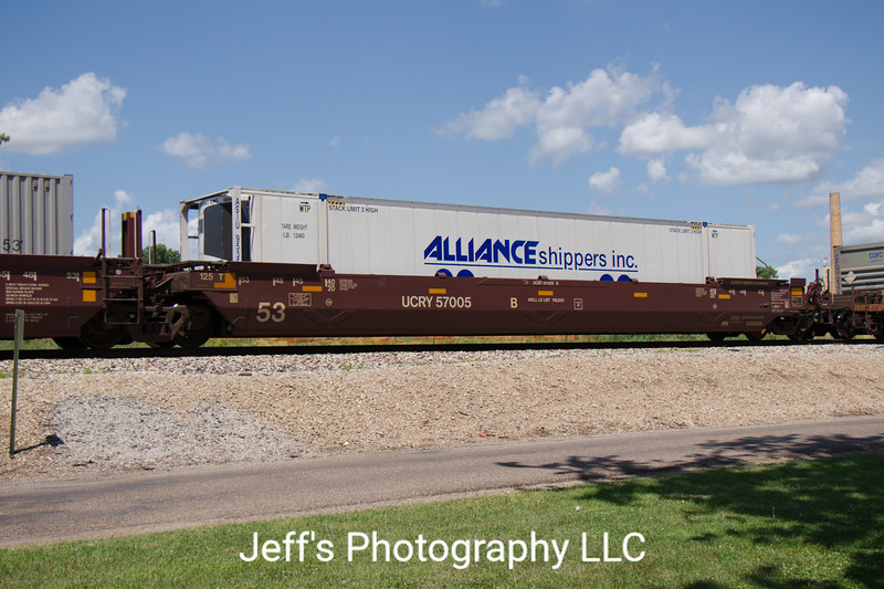 Utah Central Railway 53' Greenbrier Maxi Stack IV Well Car No. 57005