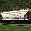 Winchester and Western Railroad 2-Bay ACF 3200 cu. ft. Centerflow Covered Hopper No. 7082