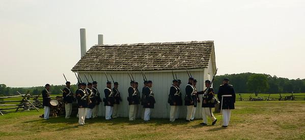 Marines seeking shade.