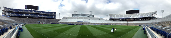 A 180 degree panoramic of the Penn State football stadium on Monday.