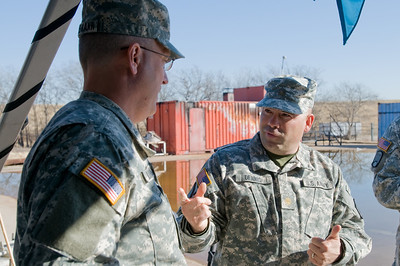 In this image released by the Texas Military Forces, New Mexico's 64th Civil Support Team briefs Army National Guard Col. Robert Lindemann of Joint Task Force 71 on Super Bowl-related security tactics in Fort Worth, Texas, Saturday, Jan. 29, 2011. The 64th CST was one of five CSTs from the region safeguarding Super Bowl personnel and attendees. The Texas Army National Guard regularly focuses on the safety of Texas citizens and welcomed the added support of another state's military forces. (Photo/100th Mobile Public Affairs Detachment, Army National Guard Sgt. Josiah Pugh)