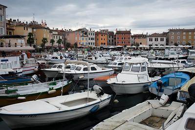 Der Hafen von Rovinj.
