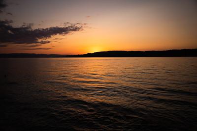 Sonnenuntergang auf der Lützelau.