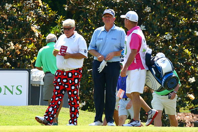 John Daly & Colin Montgomery on the tee at #7