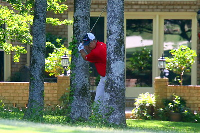 Kenny Perry in the trees on #8