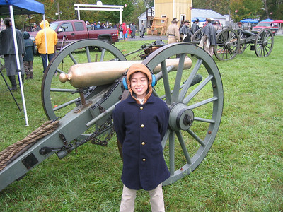 A future artilleryman!  Winslow's Battery, Fall 2006. Photo submitted by Matthew Mackintosh.