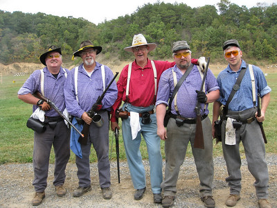 Chiswell's carbine team: David, Ken, Chuck, Kenny, Jimmy. Photo submitted by Wayne Jordan.