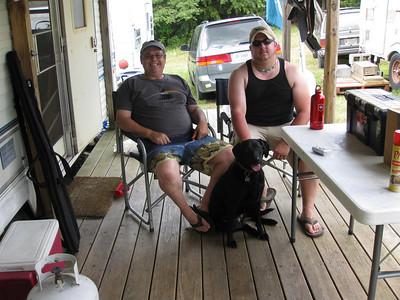 Dave Keegan and Matt Cox of Chiswell's Exiles - enjoying Fort Shenandoah! Photo by Wayne Jordan.
