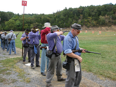 Chiswell's carbines on the line.  Photo submitted by Wayne Jordan.