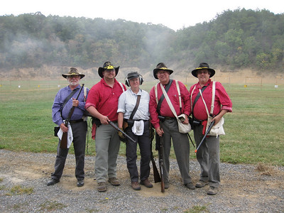 Chiswell's carbine team - Davy, Matt, Nancy, Wayne, Dave. Photo submitted by Wayne Jordan.