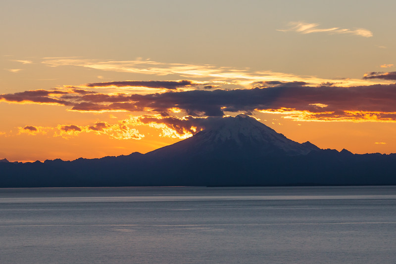 Mount Redoubt Sunset