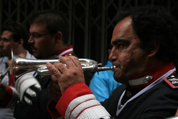 A religious parade in Cadiz, Spain