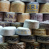 Caps on sale in Mutrah souq, Oman