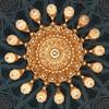 The chandelier inside Sultan Qaboos Grand Mosque in Muscat, Oman