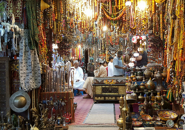 A shop in Mutrah souq, Oman