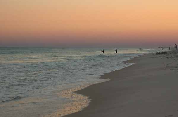 20040814 Destin Beach 025 twilight beach people