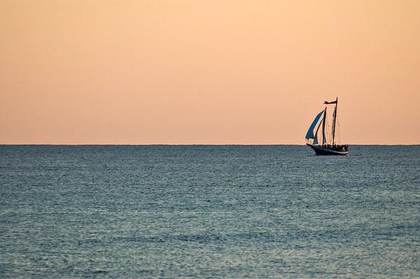 20040814 Destin Beach 002 lone ship on water