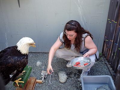 Ruth feeding beauty.