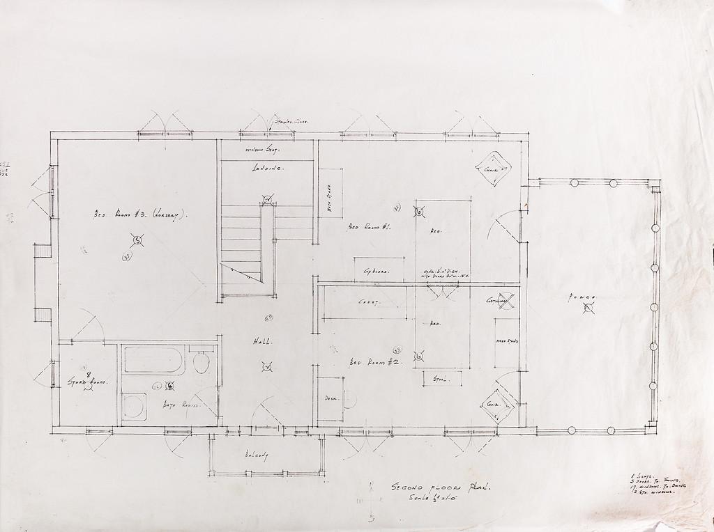 Second Floor Plan Doll House