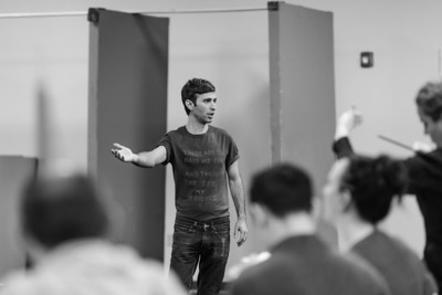 "Anthony Roth Costanzo in rehearsal for ""Stabat Mater."""
