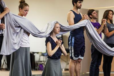 Young Artist Andrea Beasom (center).