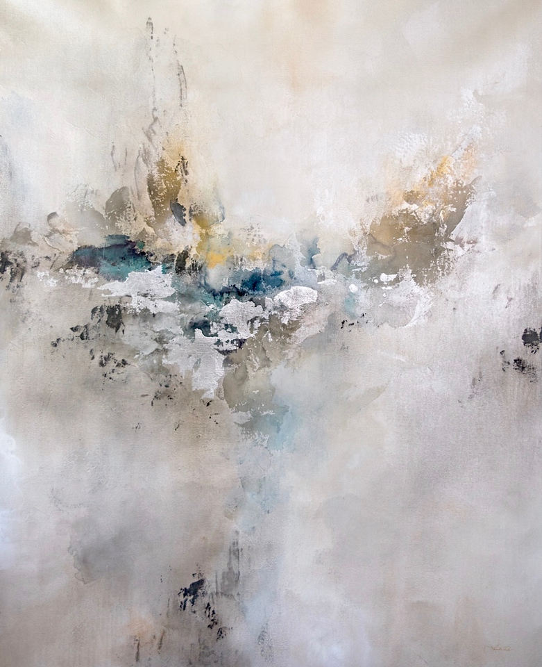 """Sterling Mist-Rei, 50""""x40"""" acrylic painting on canvas"""