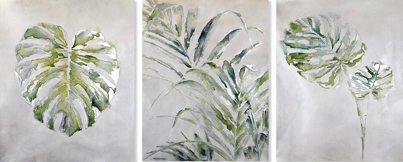 Fresh Unfolds I-III - Rei, 30x24 on canvas