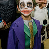 Jaiden Bruso, 6, dresses as a mini Joker during Reingold Elementary School's annual Halloween Dance on Friday evening. SENTINEL & ENTERPRISE / Ashley Green