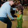 Isabelle, 2, dances along with Sue Whitney during Reingold's annual Halloween Dance on Friday evening. SENTINEL & ENTERPRISE / Ashley Green