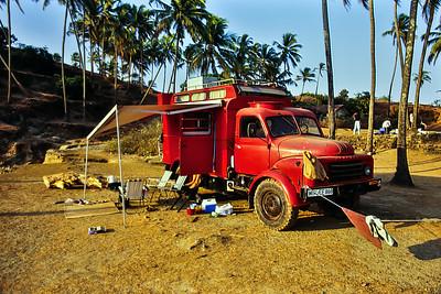 Indien - Attraktion am Strand von Goa
