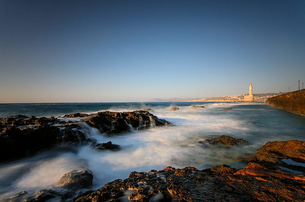Leuchtturm bei Chania auf Kreta