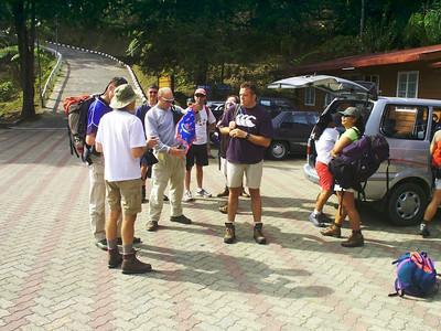 Am Eingang zum Kinabalu Park Der Eingang zum Park liegt auf etwa 1520m, etwa 2 Stunden Fahrt von KK (Kota Kinabalu).