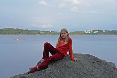 Meerjungfrau Fiona Renneberg am Stokkavatn.