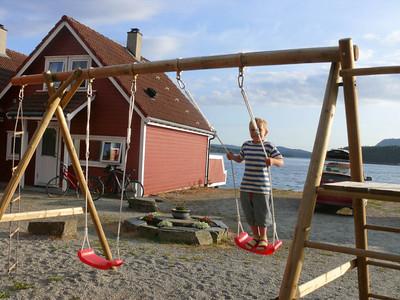 Dies war unsere Hütte in Kaadavaagen auf Randøy.