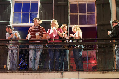 It is fun to drink on the balconies and watch the people on the street,