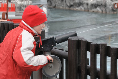 Mit den Kanonen konnte man die Piraten auf den Booten beschießen.